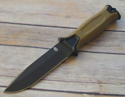 Gerber Strong Arm Fixed Blade Hunting Knife Made In Usa Full Tang With Sheath