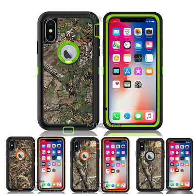 For iPhone X Case [Clip Fits Otterbox Defender] Holster iPhonex Camo