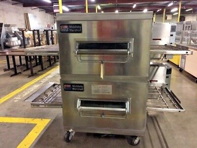 Middleby Marshall Ps200 Dbl Stack Conveyor Pizza Ovens - Gas #12495