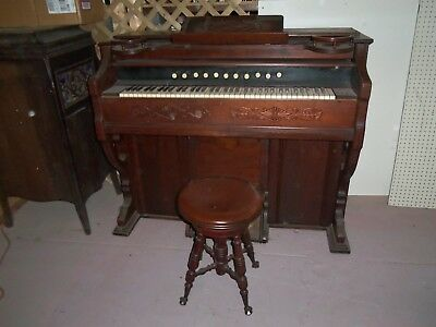 Antique Estey Pump Organ & Stool Works Eastlake? Late 1880 Brattleboro Vt