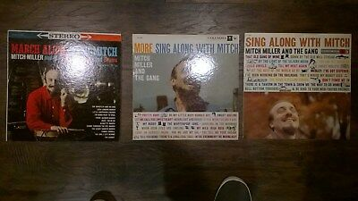 Lot of 3 Vintage  Sing Along With Mitch Miller and the Gang  ORIGINAL LPs  EX