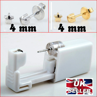 2x Sterlized Disposable Safety Professional Nose Ear Piercing Gun Do It Yourself