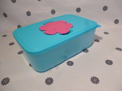 Tupperware Large Baby Wipes Dispenser Blue & Pink New!