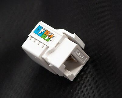 10x CAT6 RJ45 jack inline Coupler  Female Snap-In  Insert  USA  shipping