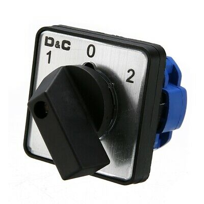 Latching 4 Terminal On-Off-On 3 Position Rotary Changeover Cam Switch AC 500 20A