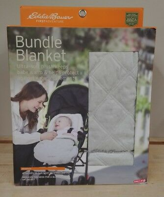 Eddie Bauer First Adventure Bundle Blanket Stroller & Carseat Cover, Light Grey