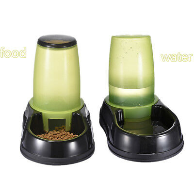 2.5L Pet Dog Cat Automatic Food Drink Dispenser Feeder Water Bowl Device Dish