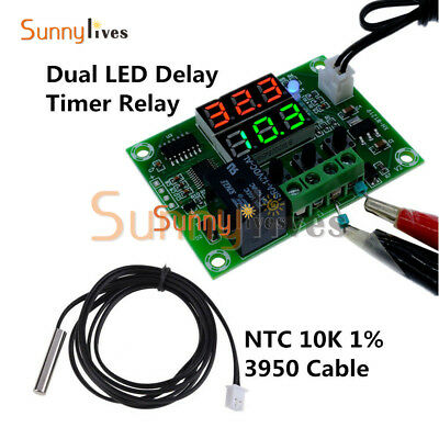 Digital DC12V Dual LED Cycle Timing Delay Timer Relay Module Clock Controller