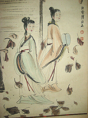 """Excellent Chinese Scroll  Painting """" Beauty """"  - By Fu Baoshi 傅抱石"""