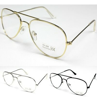 Classic Pilot Tear Drop Style Clear Lenses Glasses Frame KIDS Girls Boys