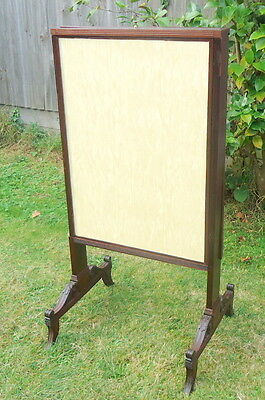 REGENCY. Pullout Fire Screen with Three Sliding Removable Leaves. Mahogany