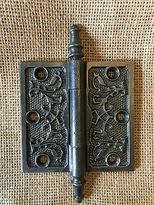 "Antique Decorative Cast Iron Steeple Tip  3 1/2"" x 3 1/2"" Hardware Door Hinge"