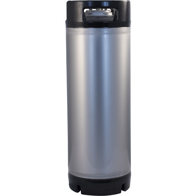 NEW Stainless Steel 5 Gallon Dual Rubber Handled Ball Lock Keg w Dry Hop Tab