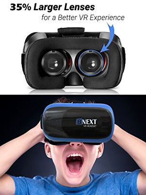 VR Headset Virtual Reality Glasses for iPhone & Android with 3D Goggles Plus