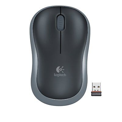 Logitech Wireless Maus Mouse M185 - Swift Grau