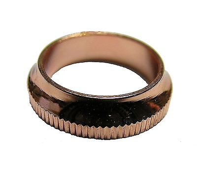 Twenty Five (25) Winding Check Brass- Bright Copper Plated Knurled Outer Edge