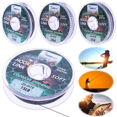 Leadcore Braided Camouflage Carp Fishing Line Hair Rigs Lead Core 15/20/35lb