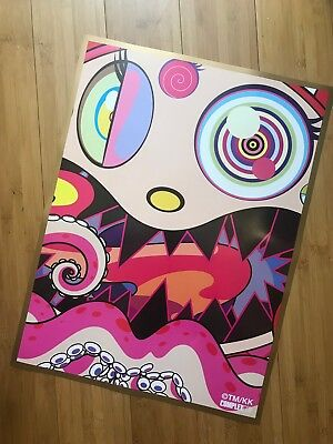 Takashi Murakami 🔥Complexcon EXCLUSIVE 2017 Hungry Poster Mint In Tube & GIFT!!