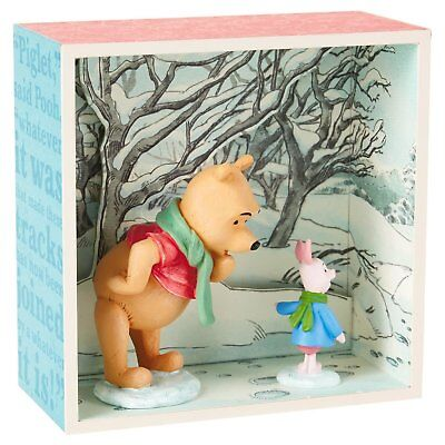 Winnie the Pooh Hundred Acre Wood Shadow Box - Pooh & Piglet in the Snow