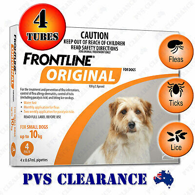 Frontline Original Orange 4 for Small Dogs Up To 10 kg -  4-Pack Flea and Tick