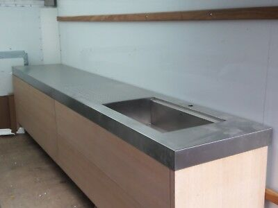 Amazing Kitchen Cabinets By Florense 12 Foot Stainless Steel Counter With Sink