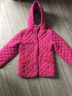 Girls Pink Padded Coat Jacket By Joules Age 8 Horse Riding Style