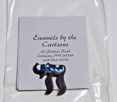 Enamel Chia Pin-Created & Designed by Enamels by the Carlsons, Lebanon, NH