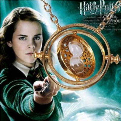 Harry Potter Time Turner Hermione Granger Rotating Hourglass Pendant Necklace