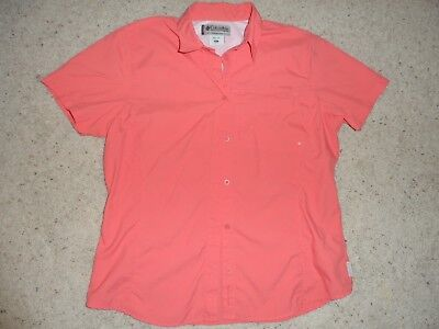 COLUMBIA Titanium Women's Hiking Outdoor Short Sleeve Shirt Sz XL