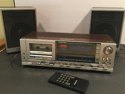 Vintage SoundDesign Am/Fm Stereo Electronic Clock Cassette Recorder 2 Speakers