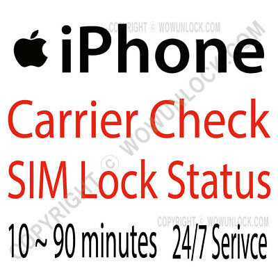 Apple Official iPhone IMEI Carrier Network Check & SIM Lock Status