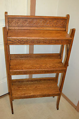 Antique Arts Crafts Mission Book shelf Display Show case Shelf  Curio Cabinet