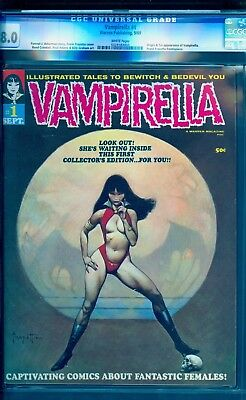 Vampirella #1  Cgc 8.0 (White Pages)  *** Buy Our Issue #3 For A $50 Rebate ***