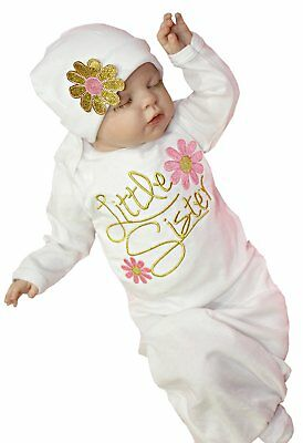 Newborn Baby Girl Take Home outfit Baby Girl Gift Set Baby Gown 0-3 Months, Pink