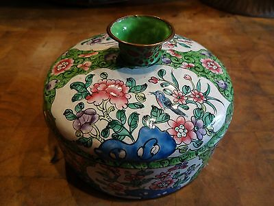Vintage Chinese Enameled Container/Box/Bowl with Lid