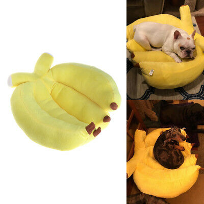 Pet Sleeping Bed Cute Banana Shape Winter Warm Dogs Cats Kennel House Soft Sofa