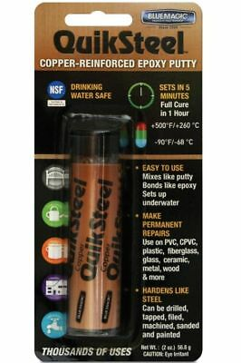 QuikSteel Copper Reinforced Epoxy Putty 56.8g Blister Pack
