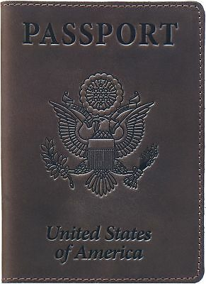 Shvigel Leather Passport Cover - Holder - for Men & Women  Passport Case (Brown)