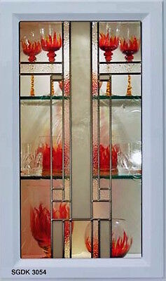 Stained glass door inserts for New or Existing  Cabinet Doors