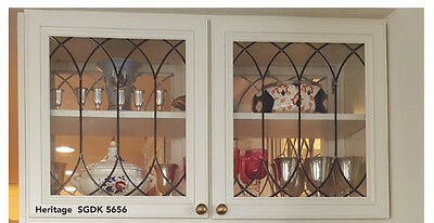 Genuine Leaded Glass Heritage Style Inserts For New & Existing cabinets