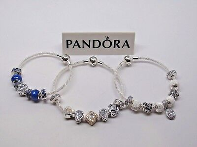 7e8d47377 New 1 Pandora Sterling Silver Mesh Bracelet 596543 CHOOSE SIZE & BOX CHOICE