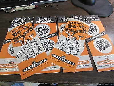 "GROSSMAN'S (SCRANTON PA)  ""DO IT YOURSELF"" FLYERS - LOT OF 6 - EXCELLENT - lot 1"