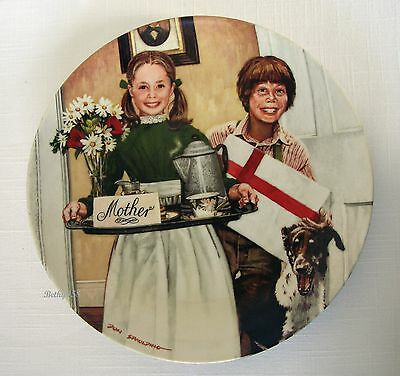 """Knowles Ltd Ed Collector Plate """"mother's Day"""" By Don Spaulding 1983~Perfect Used"""