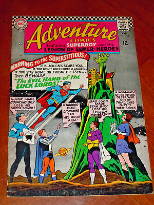 ADVENTURE COMICS #343 (1966) FINE cond (6.0)  LEGION of SUPER-HEROES