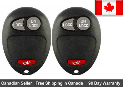 2x New Replacement Keyless Entry Remote Key Fob For Chevy Hummer GMC Pontiac