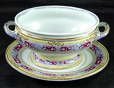 Staffordshire AVON Pattern Sauce Tureen, by Livesley Powell & Co, 1851-66