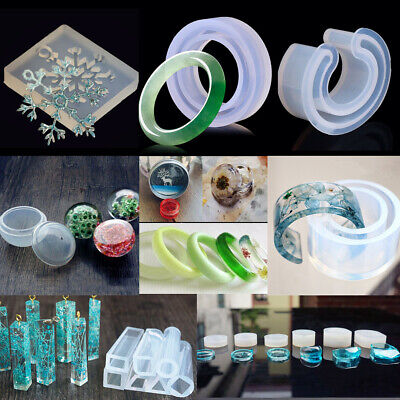 Crystal Silicone Necklace Bracelet Pendant Jewelry Making Mold Resin Craft Mould
