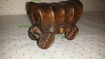 Vintage Aluminum Covered Wagon Brass color
