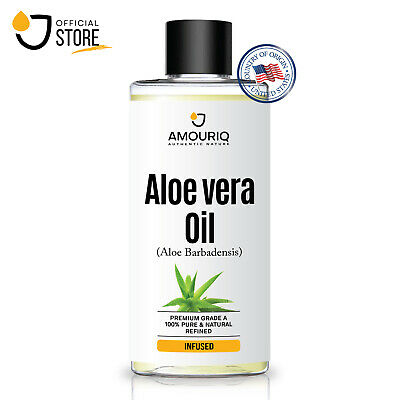 ALOE VERA OIL Premium Cold Pressed 100% Pure & Natural Carrier Face Skin Hair