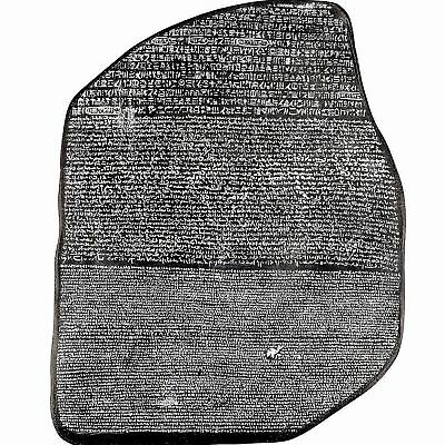 Egyptian Rosetta Stone Louvre Wall Sculpture Replica Reproduction Ancient Egypt